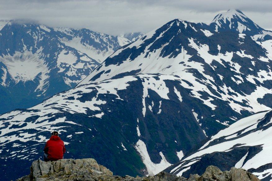 Coastal mountains Kenai Fjords National Park