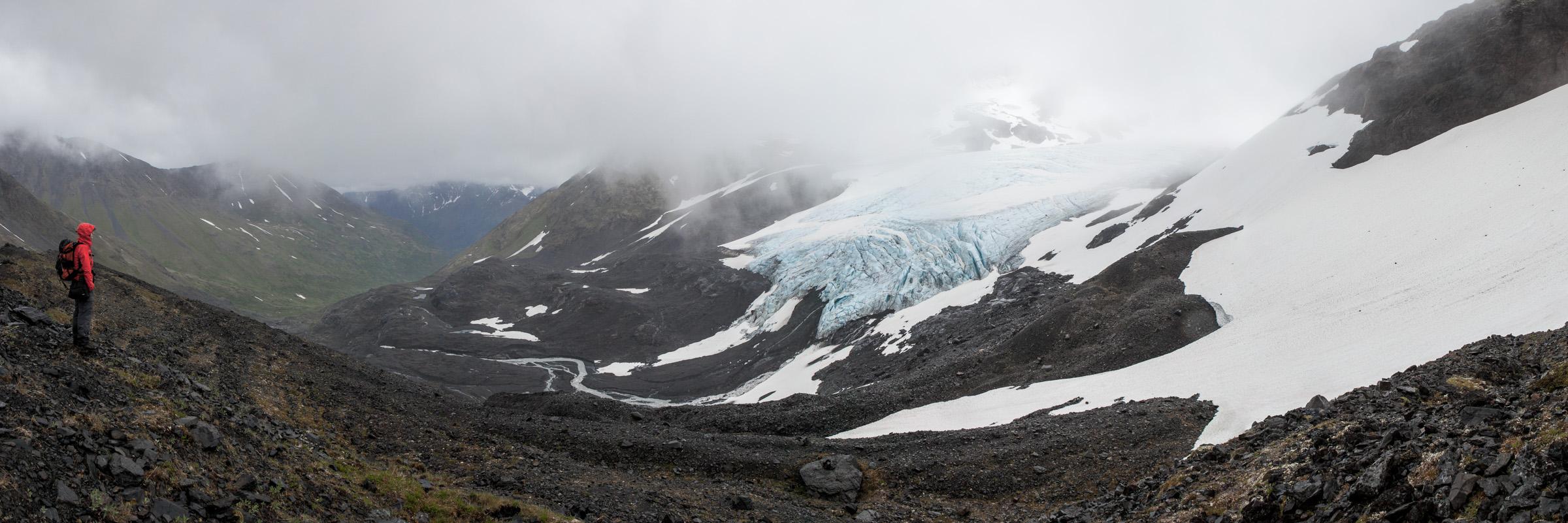 Raven glacier, Crow Pass trail, Alaska