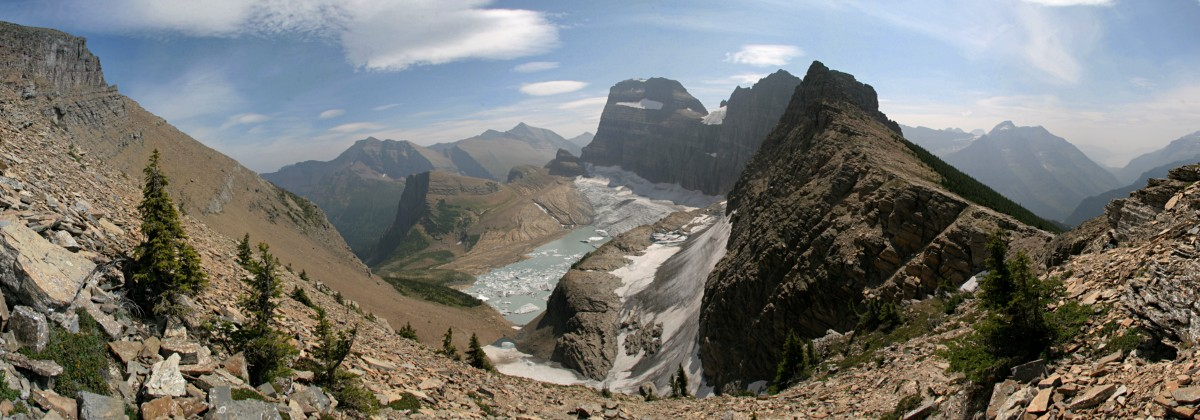 Grinnell glacier overlook panorama