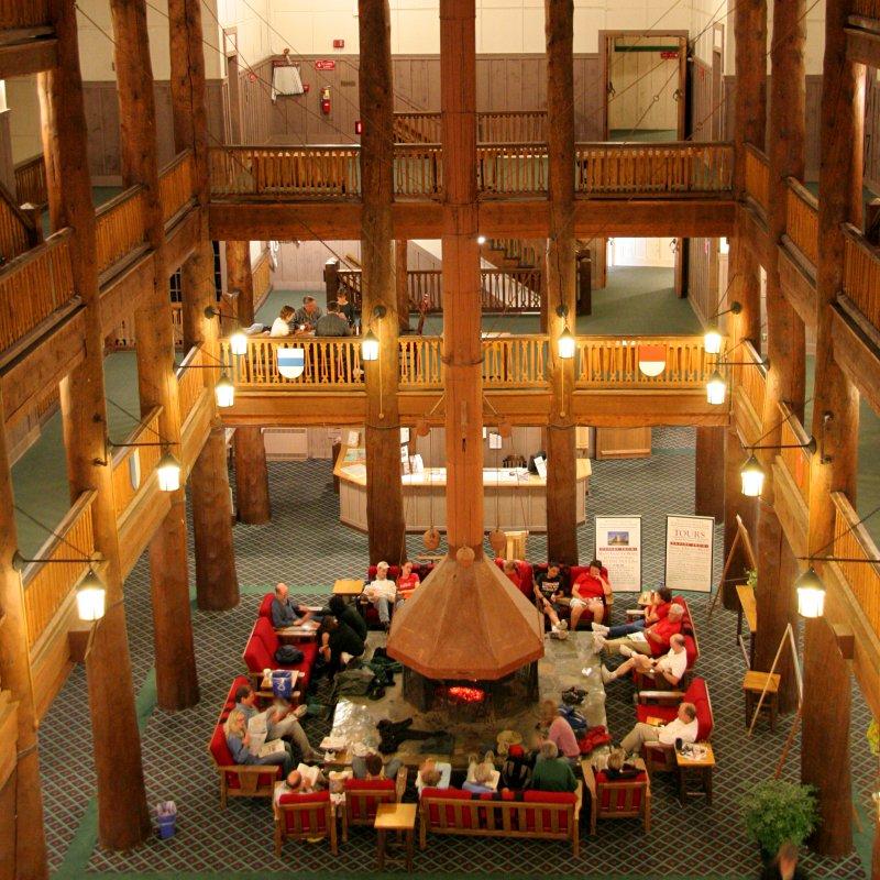Lobby, Many Glacier hotel