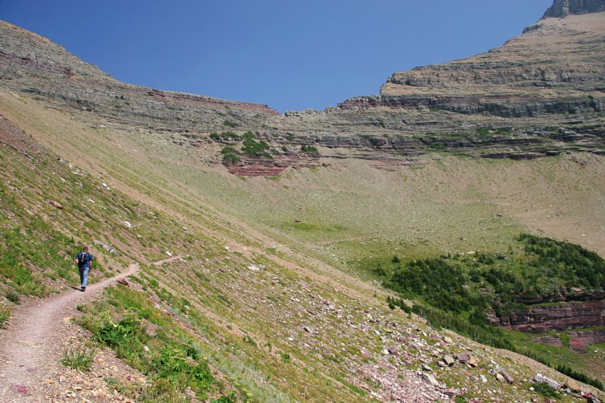 trail above Ptarmigan Lake, Glacier National Park