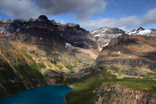 panorama from All Souls Prospect, Lake O'Hara