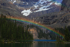 rainbow over Lake O'Hara