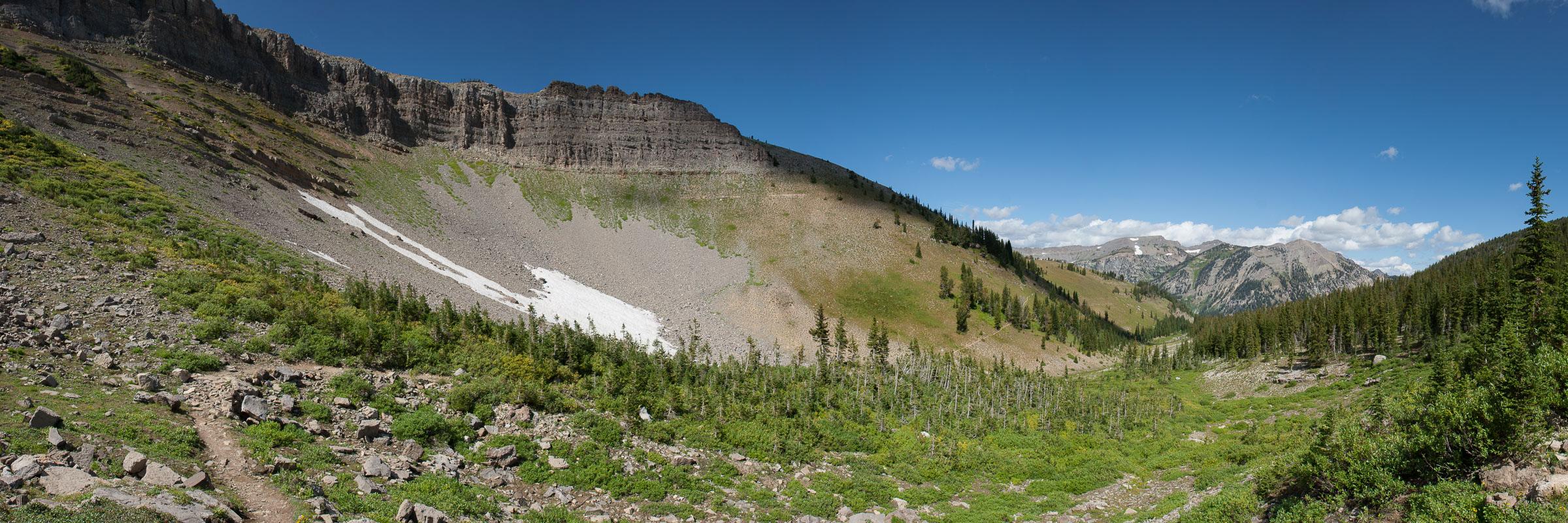 Rendezvous mountain trail, Tetons