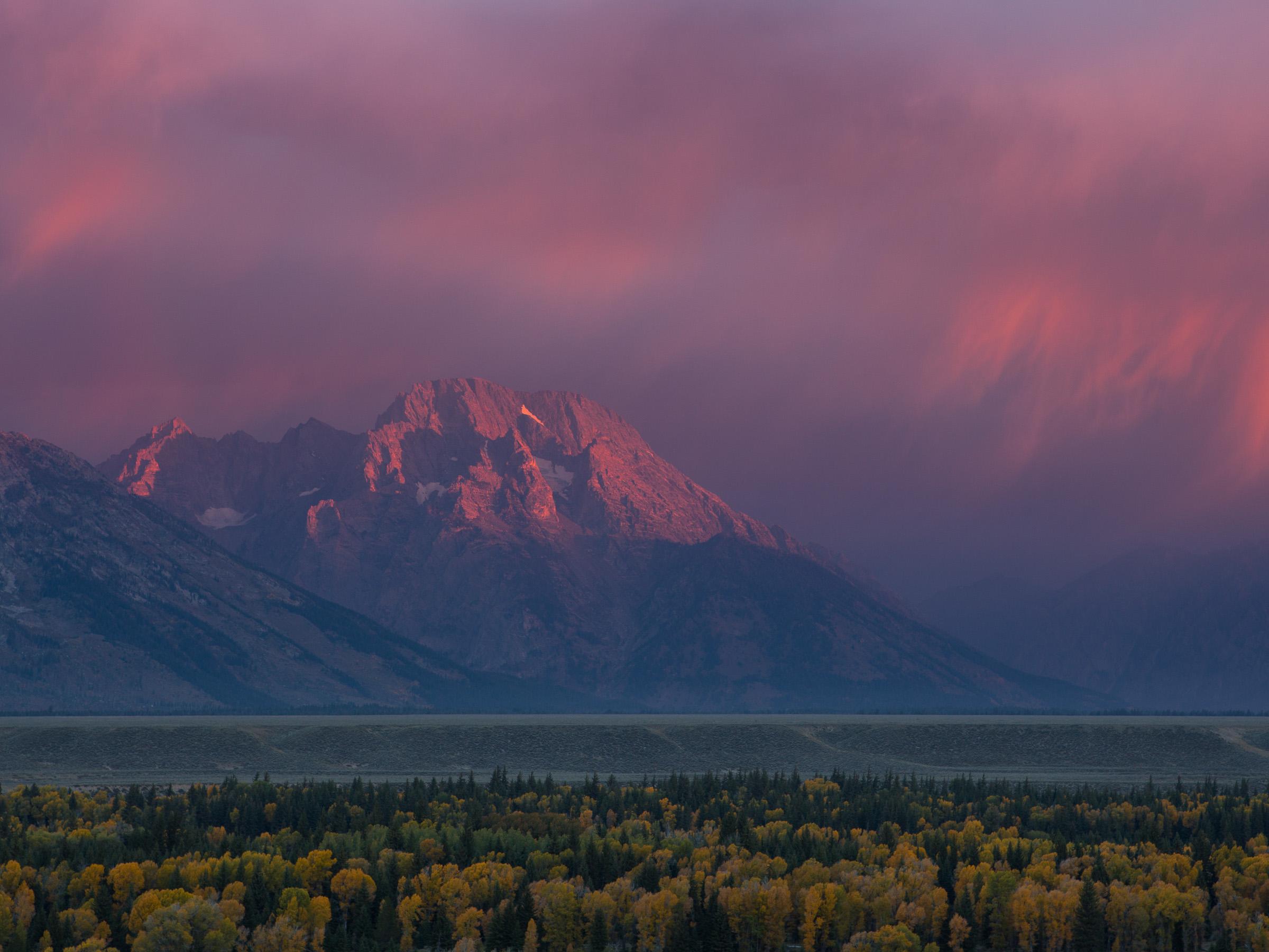 Mount Moran sunrise, Grand Teton National Park