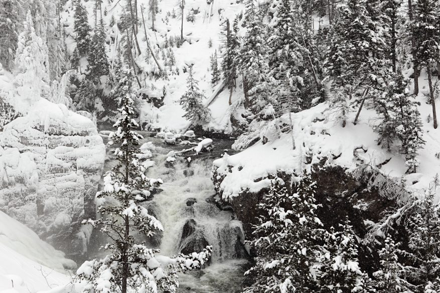 Firehole canyon, winter