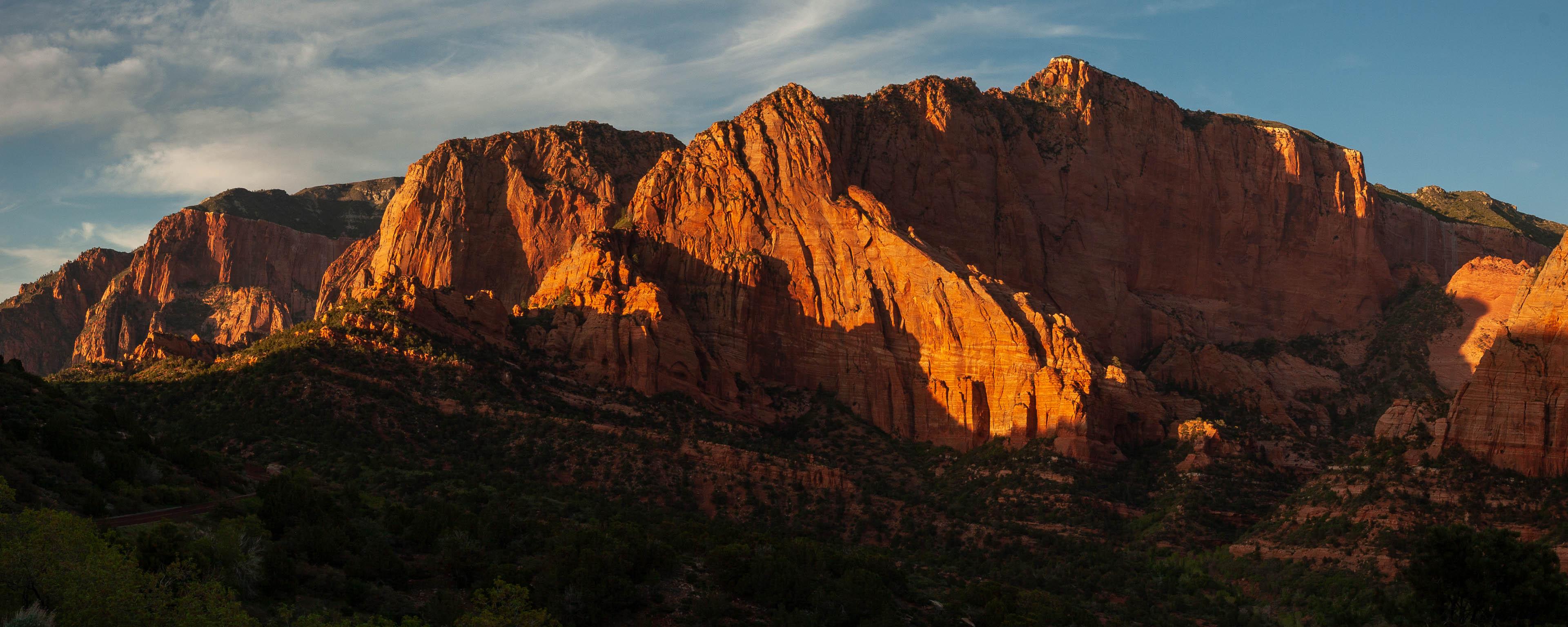 Kolob Canyons sunset