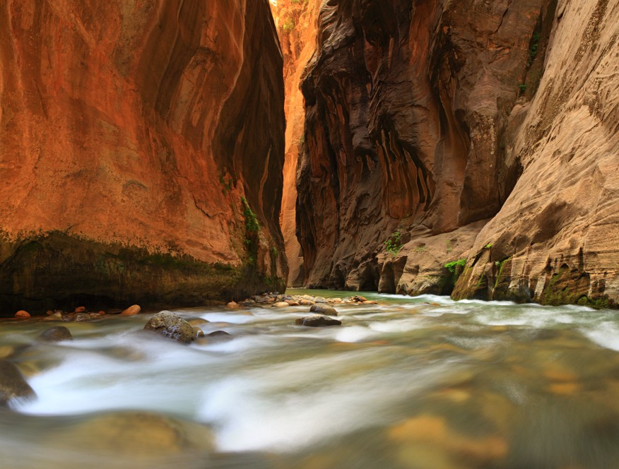 zion narrows canyon, utah